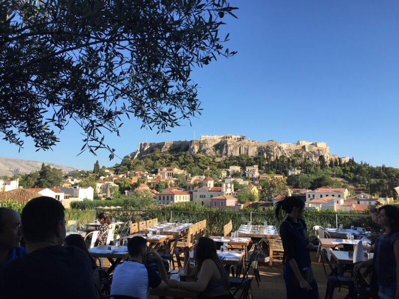 rooftop athenes terrasse vue acropole athenes