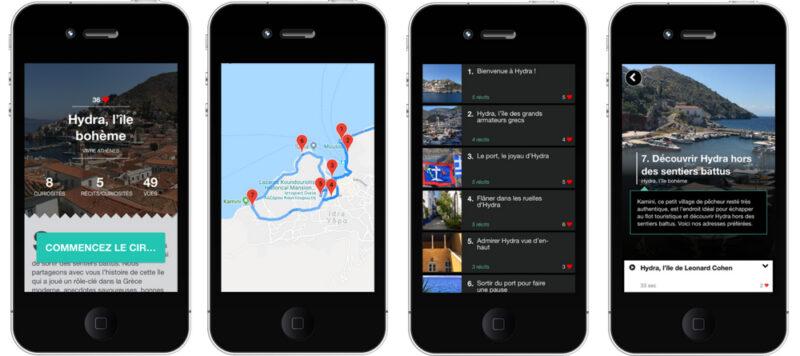 visiter hydra smartphone audioguide