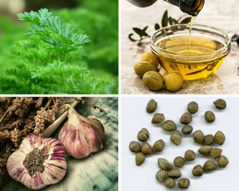 Ingrédients pour préparer la salade de persil de Syros