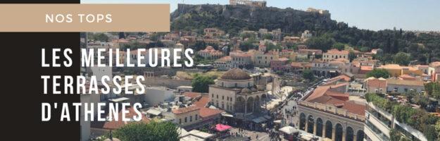 terrasses à Athènes rooftops vue acropole