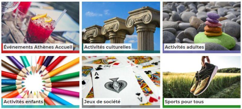 activités en français Athènes accueil
