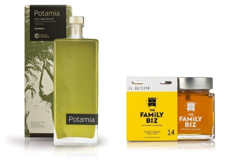 huile d'olive et miel de thym de grece cadeau