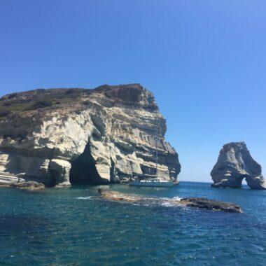 Milos : transport Aeroport de Milos avion bateau