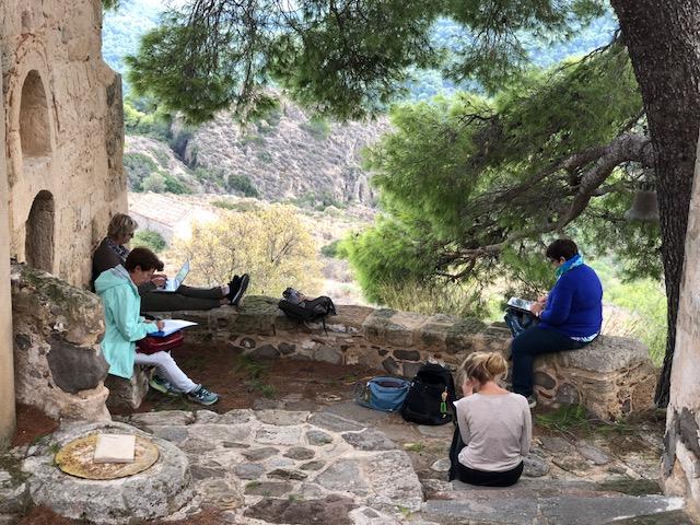 atelier ecriture egine santorin amorgos grece ile