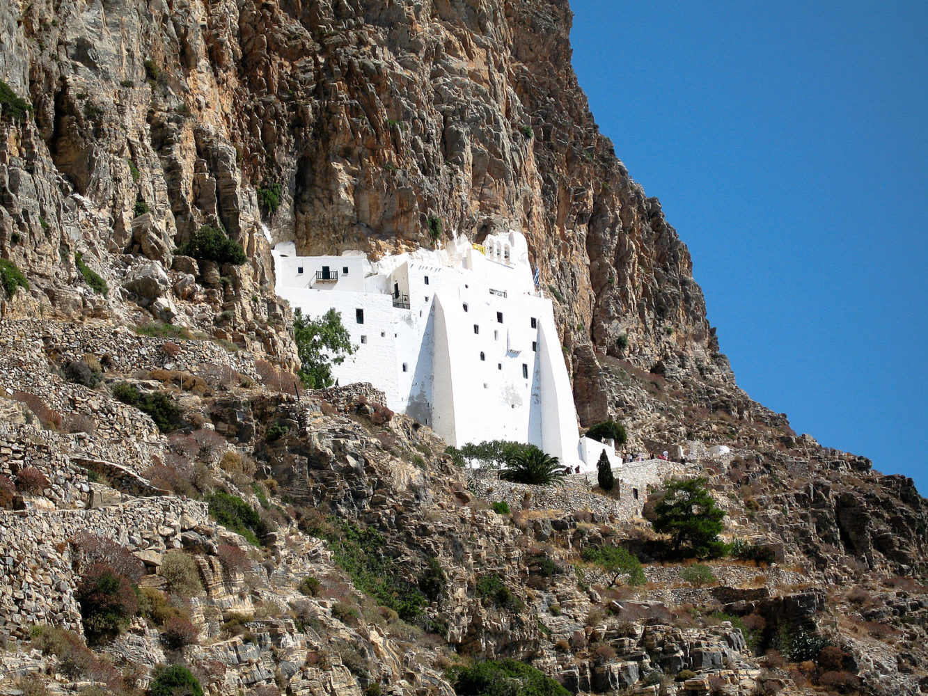 Amorgos Panagia eglise dans la roche