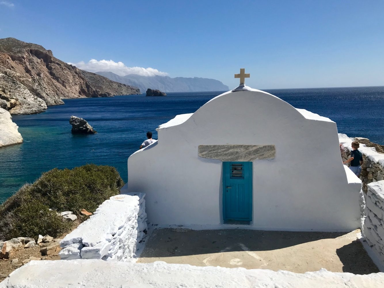La chapelle Agia Anna a Amorgos Cyclades