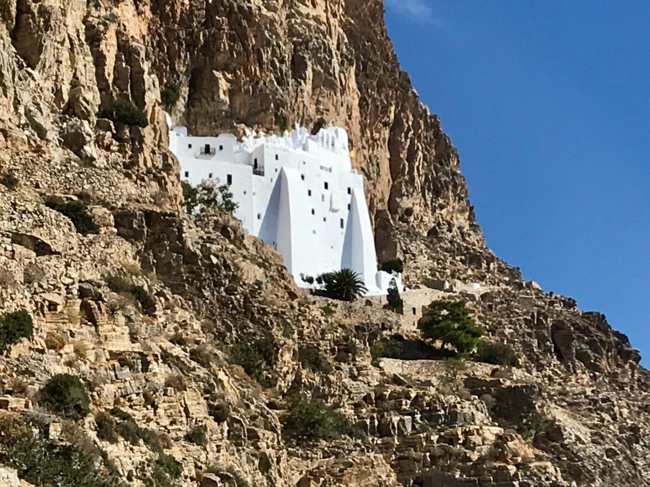 Le monastère d' Amorgos Cyclades