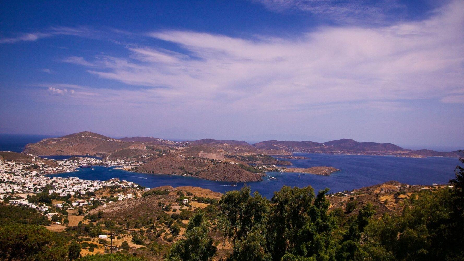 L'île de Patmos en grèce dans le Dodécanèse