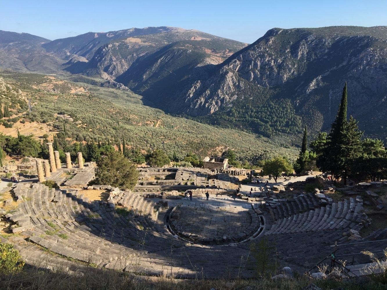 Théâtre et site de Delphes