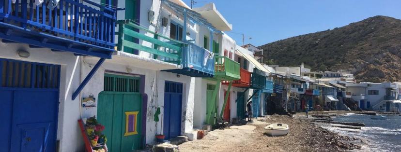 Milos village de pêcheur