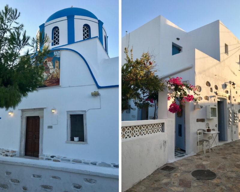 Le village bleu et blanc des Cyclades à Koufonissia