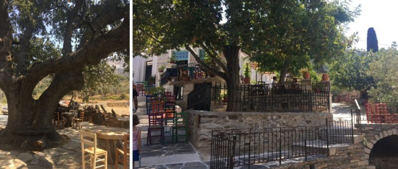 restaurants montagnes naxos