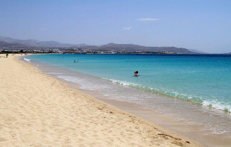 agios prokopios plages sable blanc Naxos