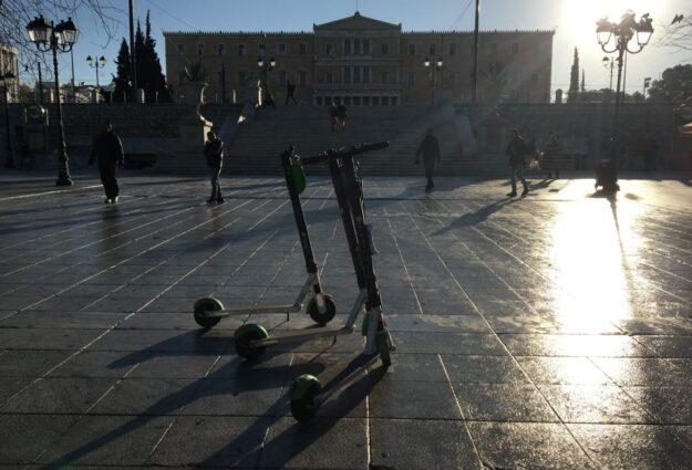 Lime trottinette électrique à Athènes