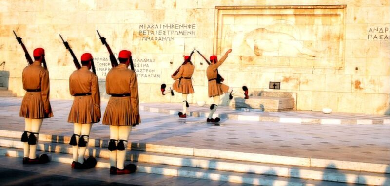 evzones place syntagma athenes