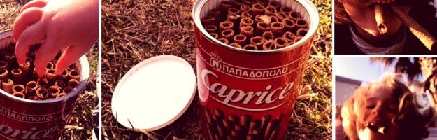 caprice biscuit grec papadopoulos gaufrette chocolat