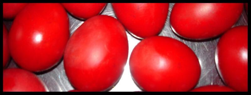 oeufs rouges paques grece