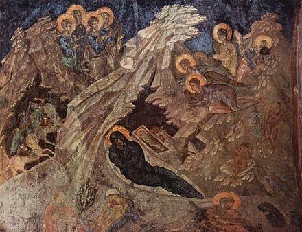 Fresque de Peribleptos Mystra Mistra eglise byzantine
