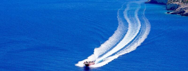 Faire du bateau à Zante