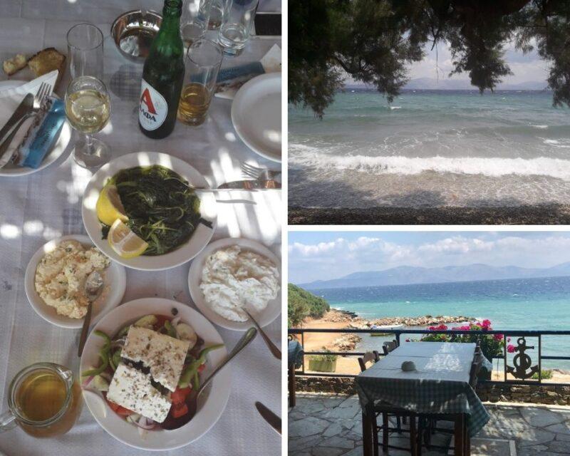 Restaurant authentique en bord de mer à Sesi près d'Athènes