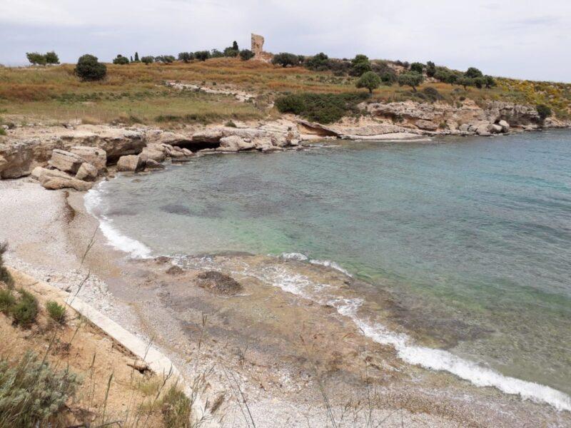 La plage Garifallos à Spetses
