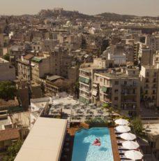 hotel athenes piscine, enfants, famille, grece