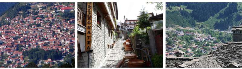 Metsovo, un village en pleine montagne en grèce
