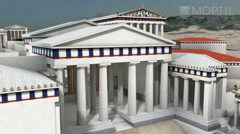 visiter l'acropole en 3D en français