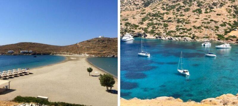 La plage Kolona à Kythnos