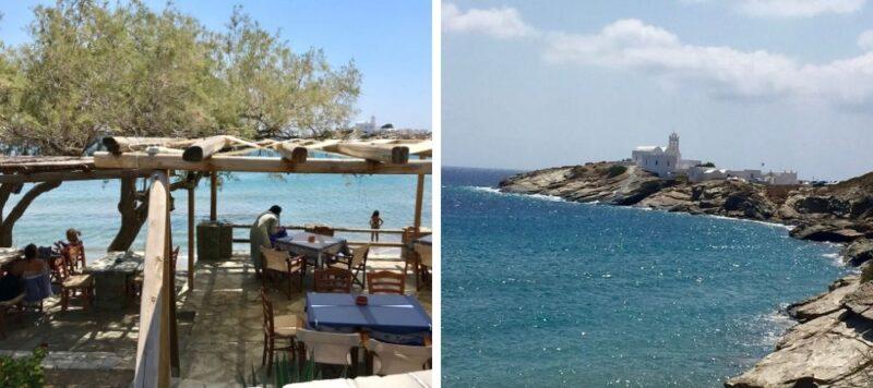 La plage d'Apokofto à Sifnos