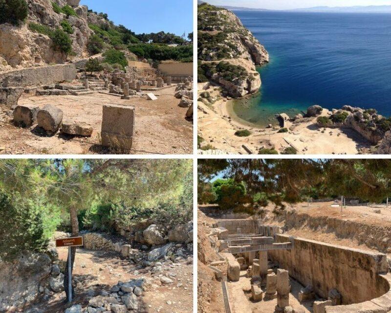 Le site antique de l'Héraion de Perachora et sa petite crique