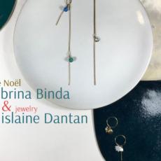 Vente de Noel : céramique de Sabrina Binda et bijoux de Ghislaine Dantan