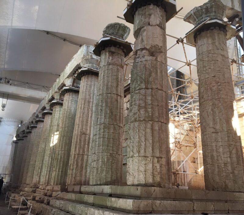Temple d'Appollon à Bassae arcadie montagnes centre du peloponnèse