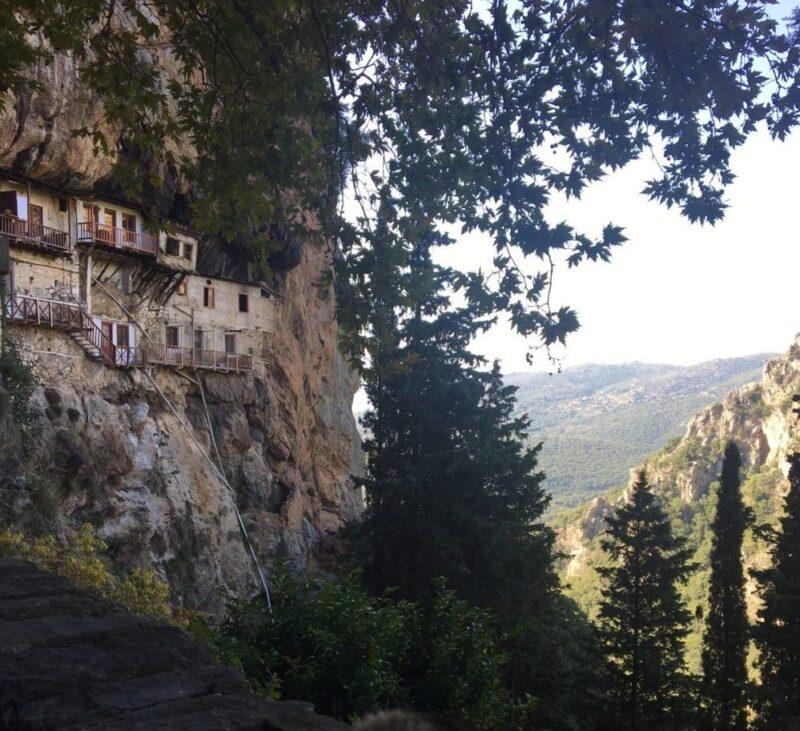 monastère Agiou Ioanni Prodromou arcadie montagnes centre du peloponnèse