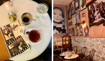 Le café melina à Athènes Plaka