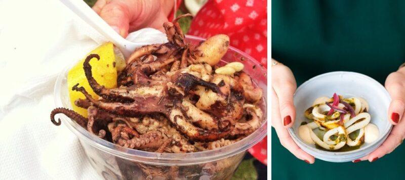 poulpes et calamars en grèce