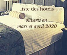 liste des hôtels encore ouverts en Grèce pendant la crise du Coronavirus en mars et avril 2020