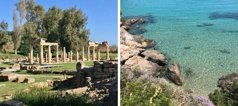 Balades autour d'Athènes à la journée : vravrona et porto rafti