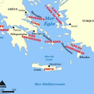 Les différentes iles grecques