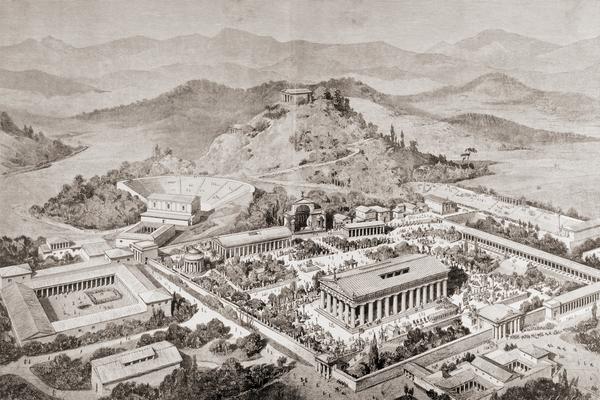 site d'olympie Grèce durant la période antique