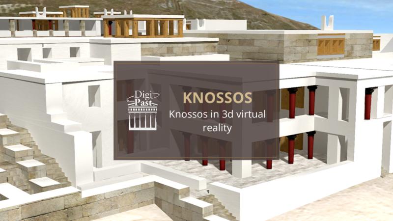visite guidée du palais de Knossos Cnossos en français sur smartphone audioguide app 3D