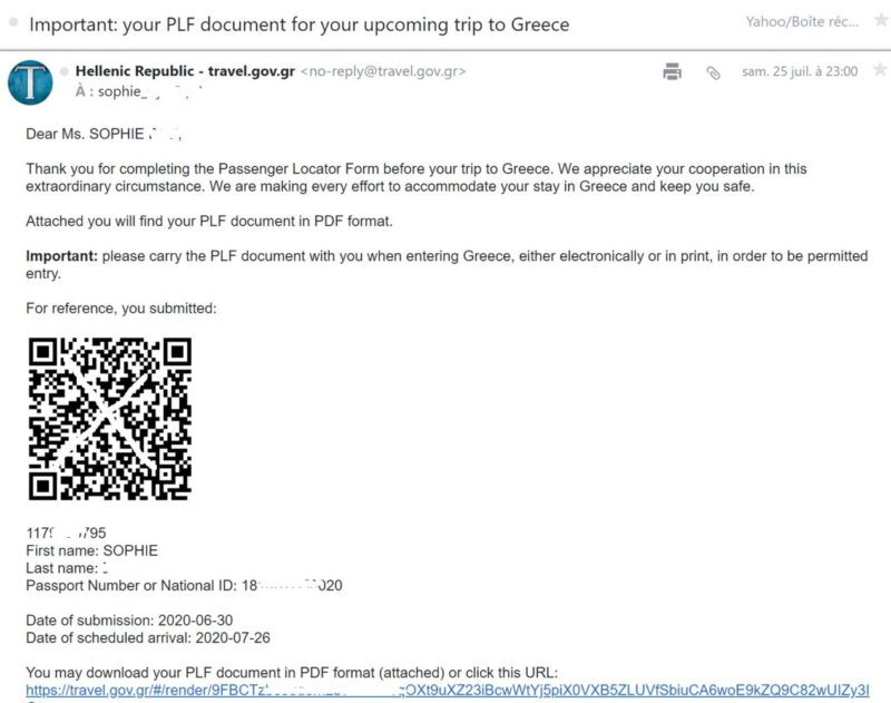 qr code du PLF Grèce