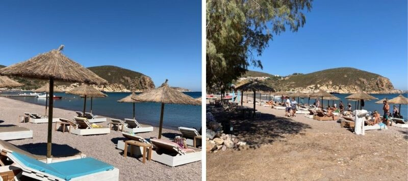 Les plages de Patmos Grèce