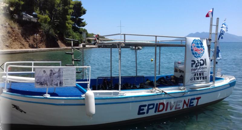 Faire de la plongée en Grèce avec un moniteur français avec Epidive à Epidaure