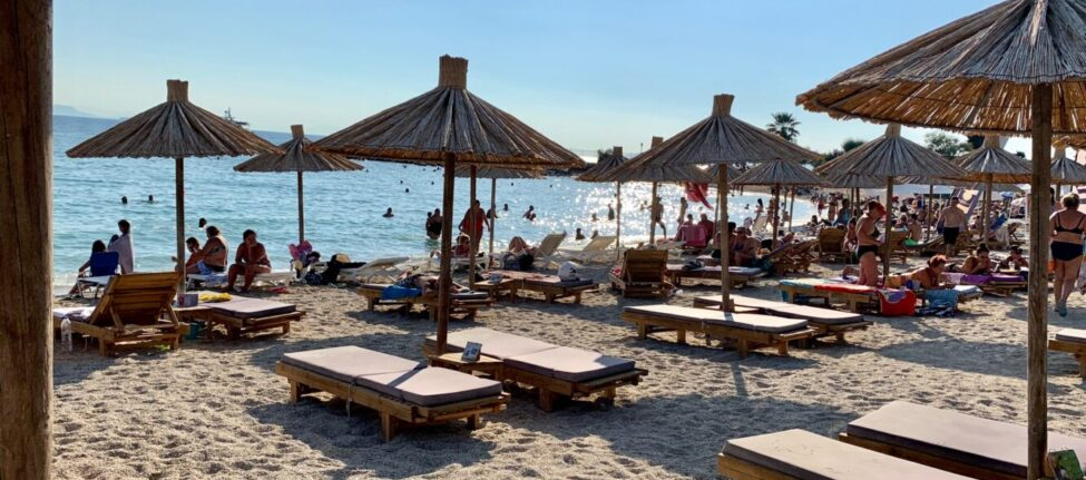 La plage Bolivar Beach à Athenes