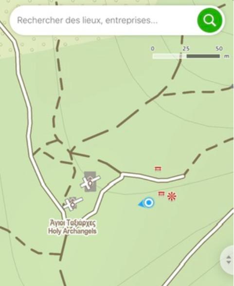 Point de vue de la randonnée sur le mont hymette à Athènes dans la forêt de Kaisariani
