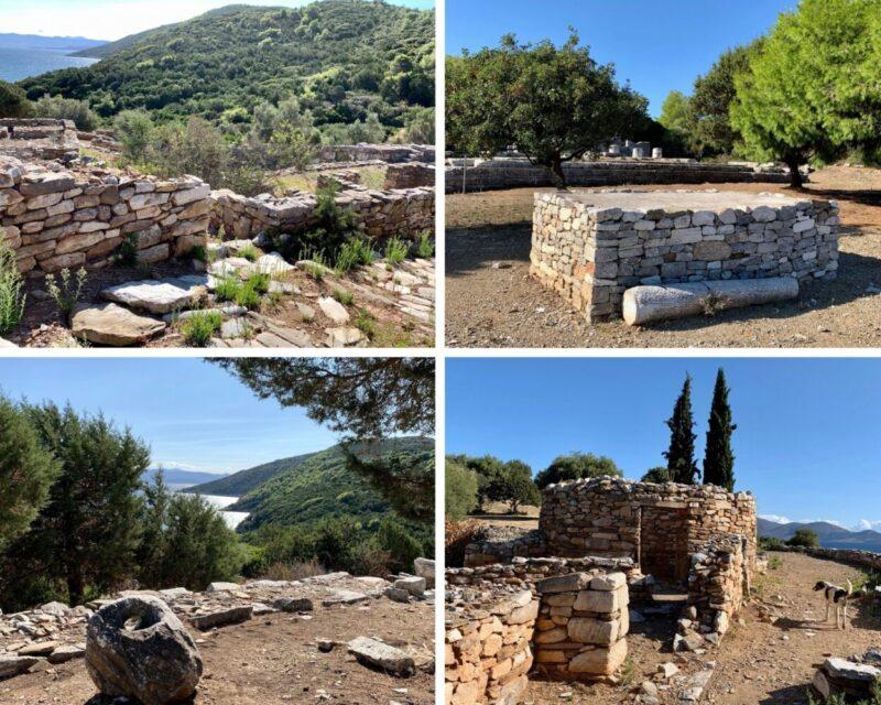 le site archéologique de Rhamnous Ramnous en grèce près d'Athènes