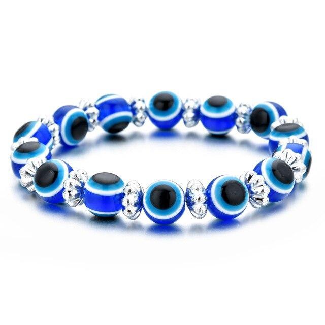 bracelet grec oeil bleu en verre