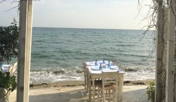 Isidora taverne grecque en bord de mer proche d'athènes marathon nea makri