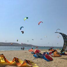 faire du kitesurf en Grèce paros naxos santorin kos rhodes Athènes Eubée